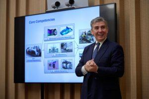 Ο CEO της Dallara, Andrea Pontremoli.