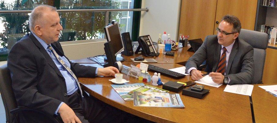 Ο επικεφαλής της Uni Systems, Γιάννης Λουμάκης, μιλά στο δημοσιογράφο Τρύφωνα Αλευρίτη.