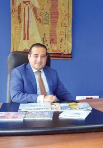 Ο District manager της Egyptair σε Ελλάδα και Κύπρο, Salah Tawfik.